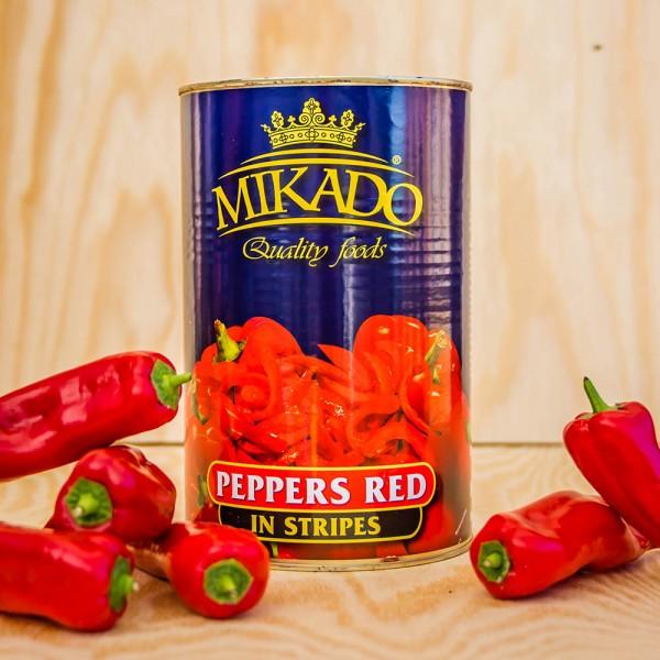 Tomaten-Paprika in Streifen