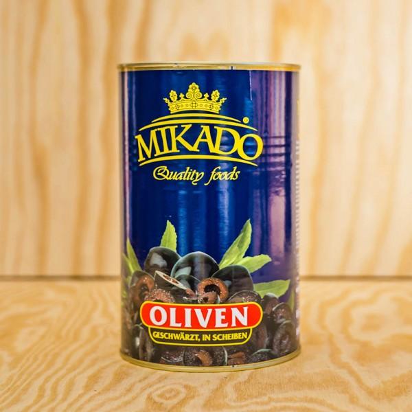 Oliven, schwarz, in Scheiben