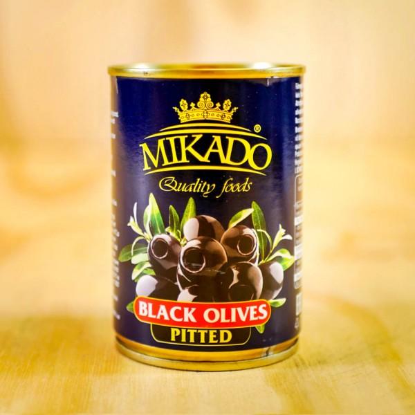 Oliven, schwarz, ohne Stein