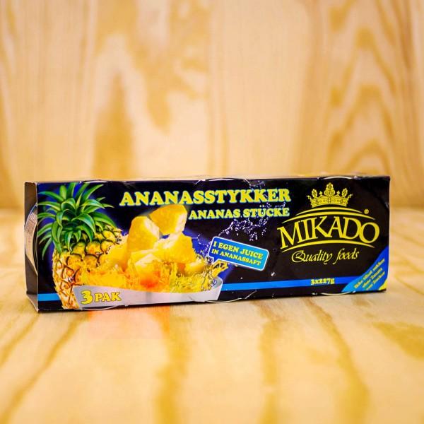 Ananas Stücke, in eigenem Saft