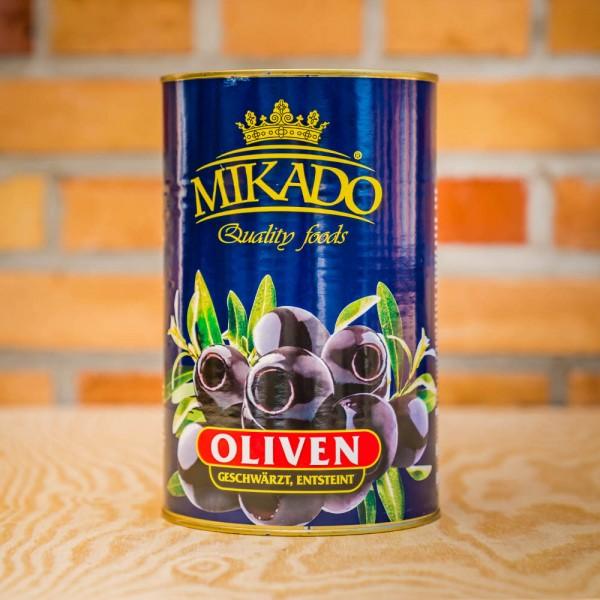Oliven,schwarz, ohne Stein, 34/36