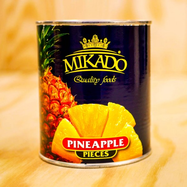 Ananas-Stücke, leicht gezuckert