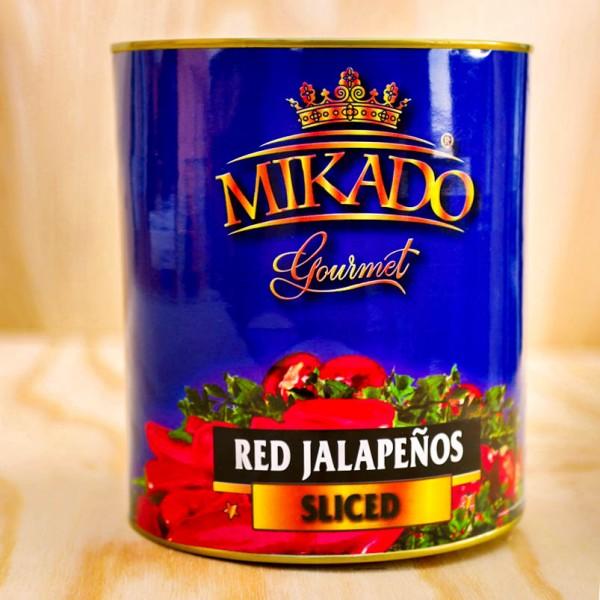 Jalapenos, rot, in Scheiben, mariniert