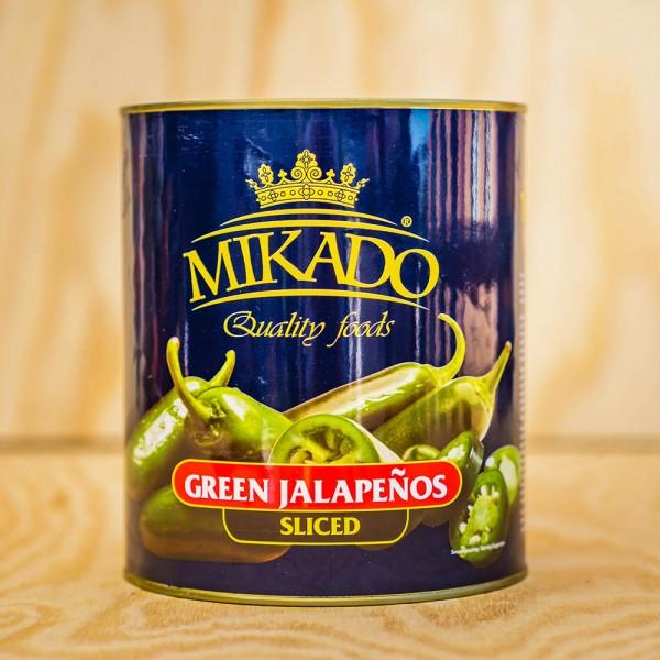 Jalapenos, grün, in Scheiben, mariniert