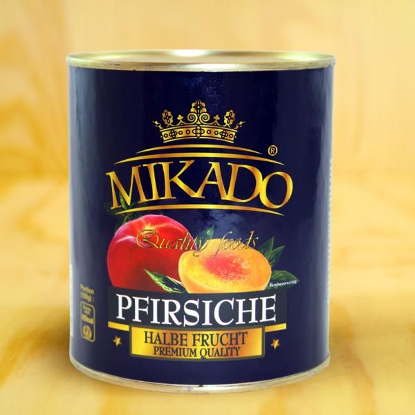 Pfirsiche, 1/2 Früchte, gezuckert