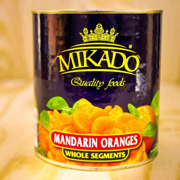 Mandarin-Orangen, leicht gezuckert max 10-15 % Bruch