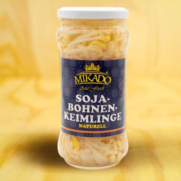 Sojabohnen-Keimlinge
