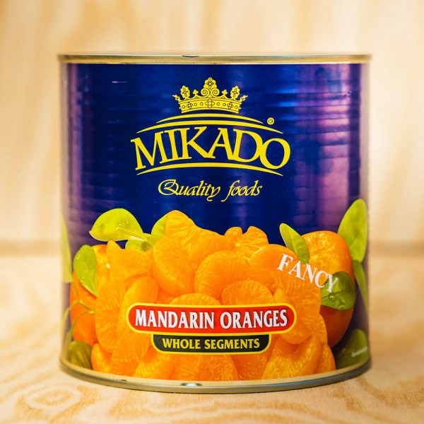 Mandarin-Orangen, leicht gezuckert max 10 % Bruch