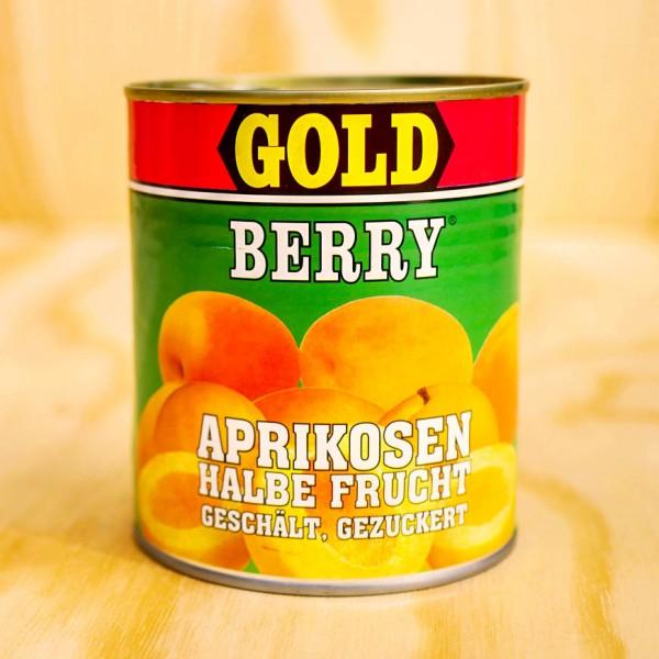 Aprikosen, 1/2 Früchte, geschält, leicht gezuckert