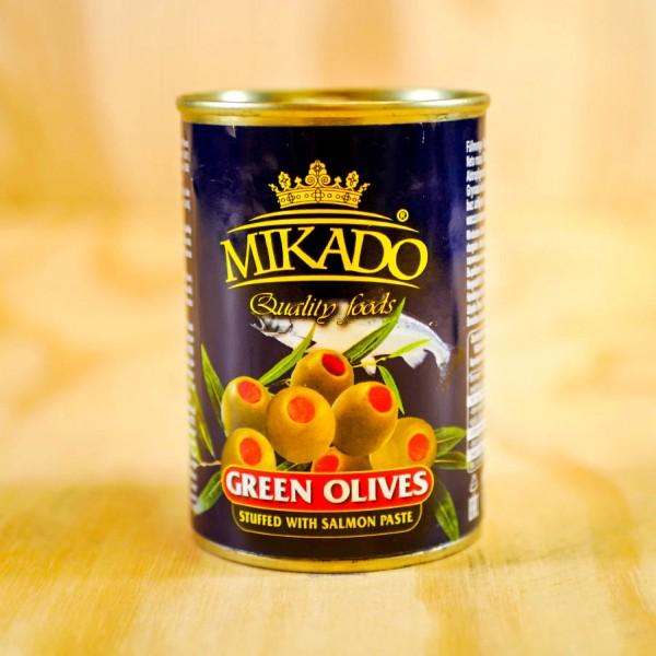 Oliven grün, mit Lachs