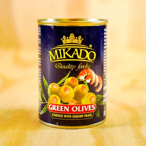 Oliven grün, mit Shrimps