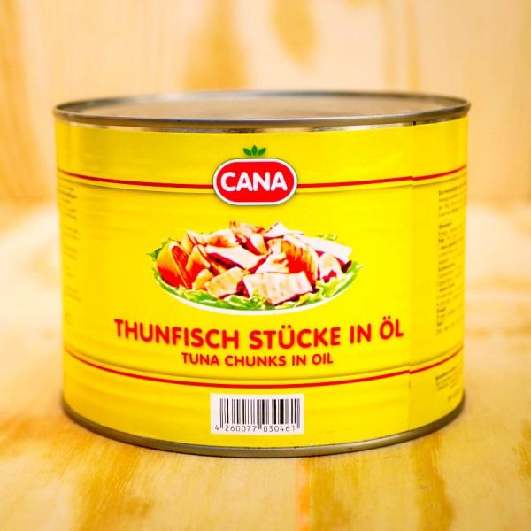 Thunfisch-Stücke in Öl