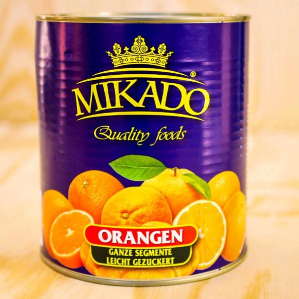 Orangen Segmente, leicht gezuckert