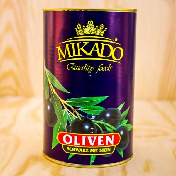 Oliven,schwarz, mit Stein, 30/33