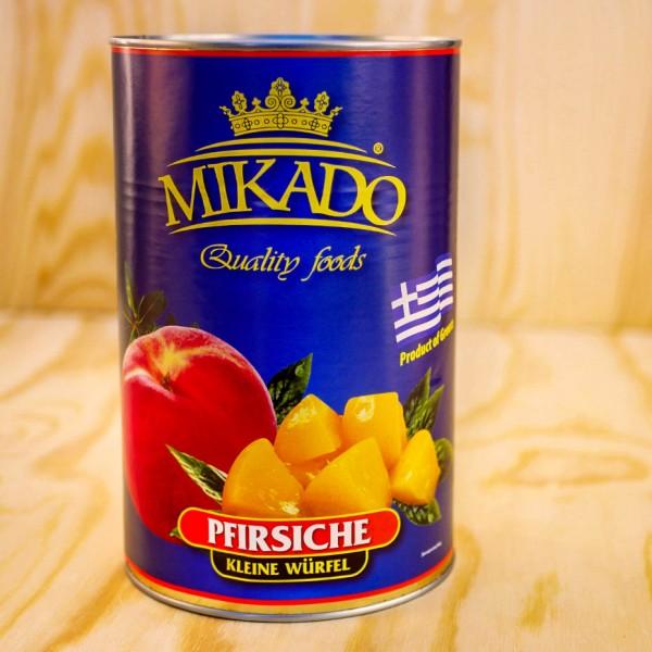 Pfirsiche, gewürfelt(14x14mm), leicht gezuckert