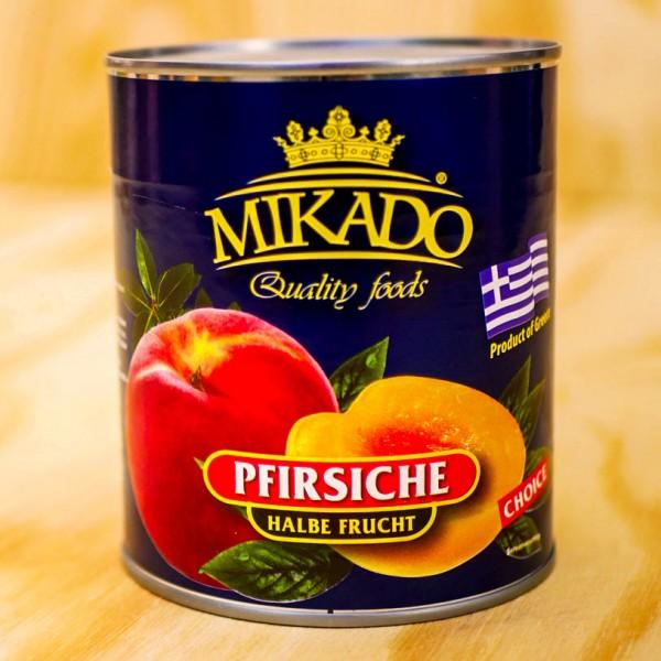 Pfirsiche, 1/2 Früchte, leicht gezuckert