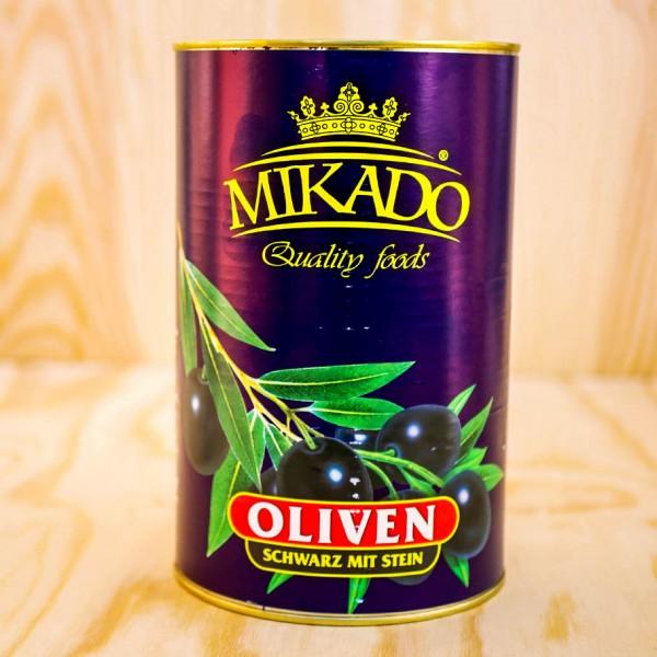Oliven, schwarz, mit Stein, 34/36