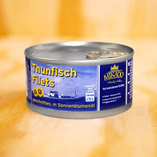 Thunfisch-Filets in Öl