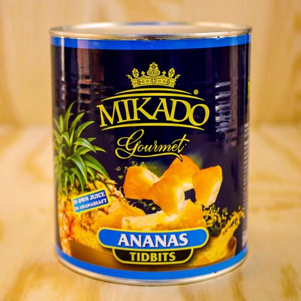 Ananas-Stücke, Tidbits, choice, in Ananas Saft