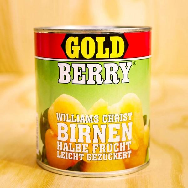 Birnen, 1/2 Früchte, leicht gezuckert
