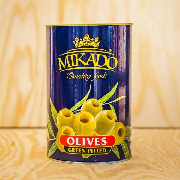Oliven, grün, ohne Stein, 30/33