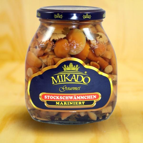 Nameko-Pilze, mariniert
