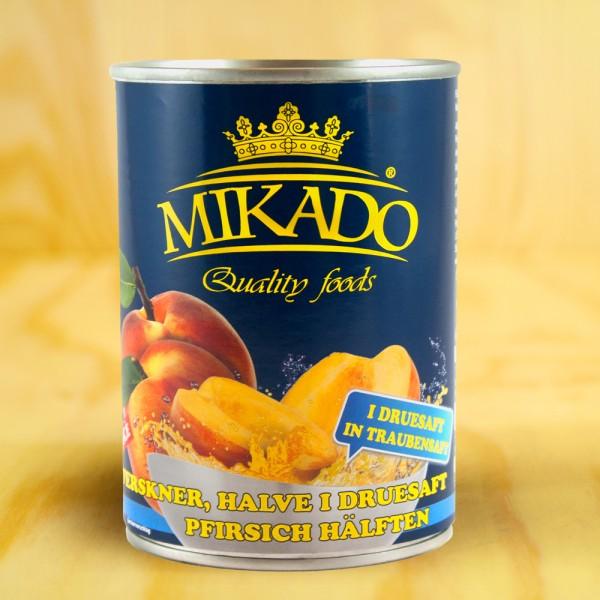 Pfirsiche, 1/2 Früchte, in Traubensaft