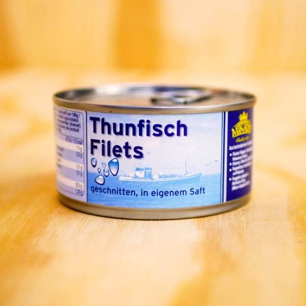 Thunfisch-Stücke in Wasser